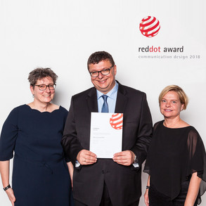 Red Dot Award Verleihung der Urlunde 2018